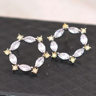 Rhinestone Mini Hoop Earring from Kulala