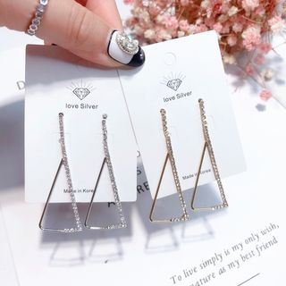 Rhinestone Triangle Dangle Earring from Kulala