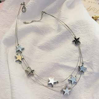 Star Layered Choker As Shown In Figure - One Size from Kulala