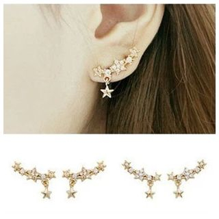 Star Rhinestone Stud Earrings from Kulala
