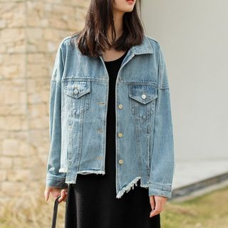 Buttoned Denim Jacket from Lady Jean