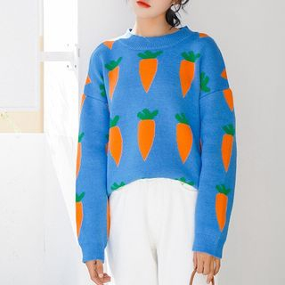 Carrot Pattern Sweater from Lady Jean