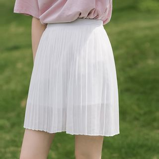 Chiffon Pleated Mini Skirt from Lady Jean