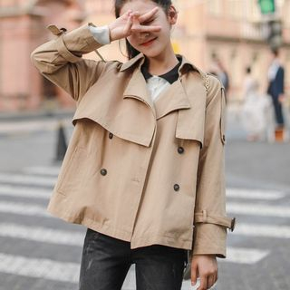 Double-Breasted Trench Jacket from Lady Jean