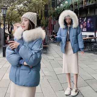 Furry Trim Hooded Padded Jacket from Lady Jean