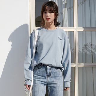 Letter Embroidered Pullover from Lady Jean