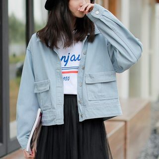 Lettering Denim Jacket from Lady Jean