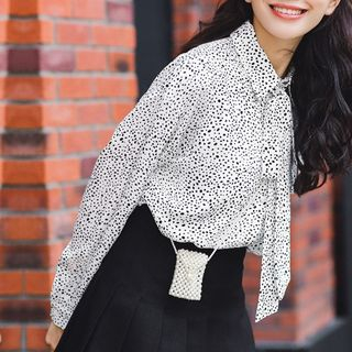 Long-Sleeve Dotted Blouse from Lady Jean