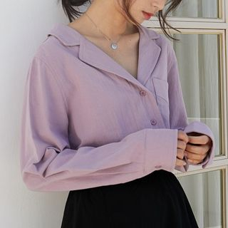 Notch-Lapel Blouse from Lady Jean