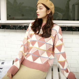Patterned Sweater from Lady Jean
