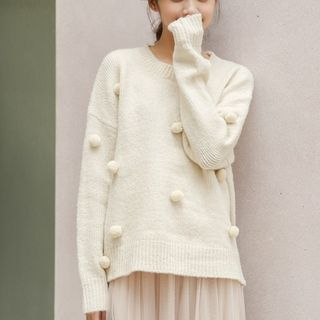Pom Pom Sweater from Lady Jean