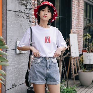 Short-Sleeve Graphic Print T-Shirt from Lady Jean