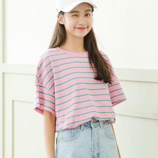 Short-Sleeve Striped T-Shirt from Lady Jean