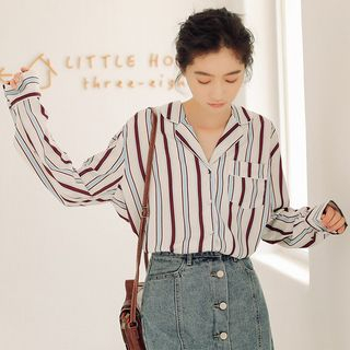 Striped Chiffon Shirt from Lady Jean