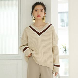 Waffle-Knit Sweater from Lady Jean