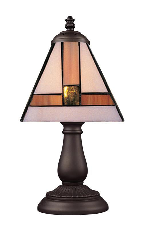 Landmark 080-TB-01 Mix and Match Section Tiffany Bronze Table Lamp from Landmark Lighting
