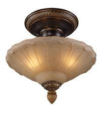 Landmark 08092-AGB Restoration Three Light Semi Flush in Golden Bronze from Landmark Lighting