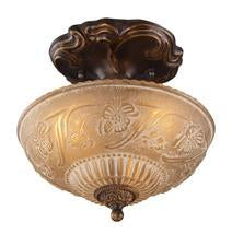 Landmark 08103-AGB Restoration Three Light Semi Flush in Golden Bronze from Landmark Lighting
