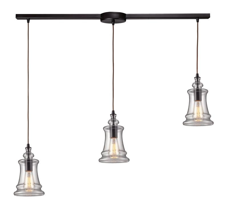 Landmark 60042-3L Menlow Park Oiled Bronze Pendant from Landmark Lighting