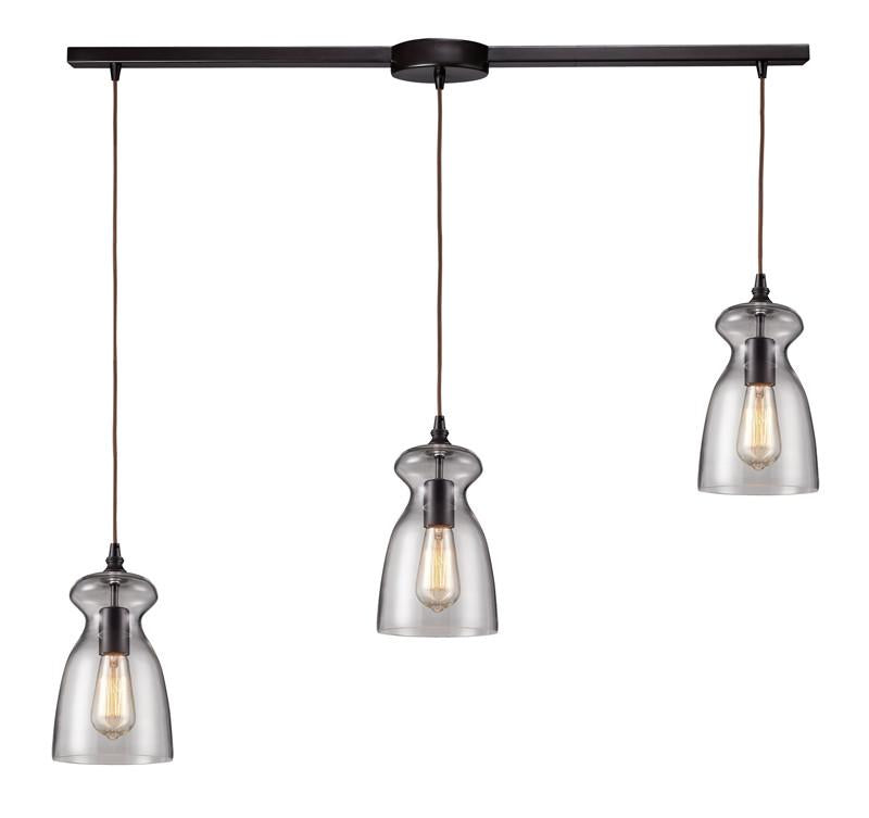 Landmark 60043-3L Menlow Park Oiled Bronze Pendant from Landmark Lighting