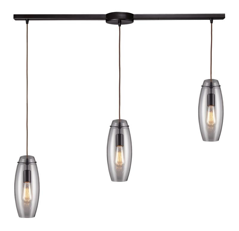 Landmark 60044-3L Menlow Park Oiled Bronze Pendant from Landmark Lighting