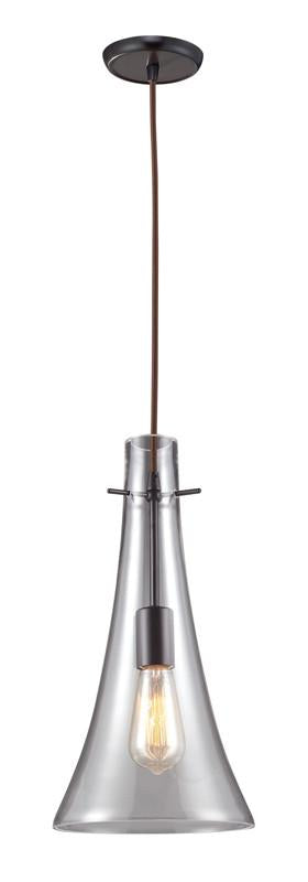 Landmark 60045-1 Menlow Park Oiled Bronze Pendant from Landmark Lighting