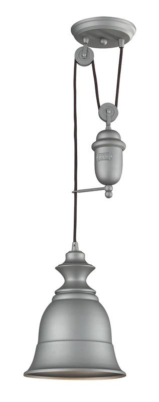 Landmark 65080-1 Farmhouse Aged Pewter Pendant from Landmark Lighting