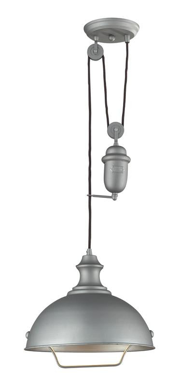 Landmark 65081-1 Farmhouse Aged Pewter Pendant from Landmark Lighting