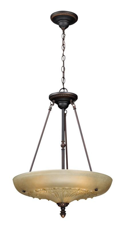 Landmark 66041-3 Restoration Pendants. Antique Golden Bronze Pendant from Landmark Lighting