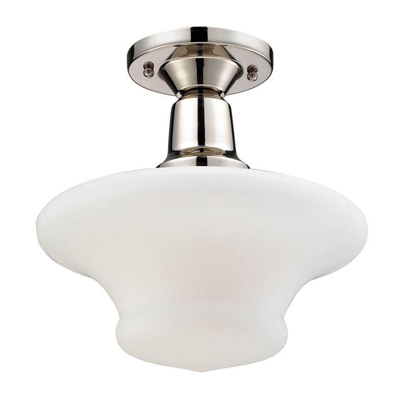 Landmark 66234-1 Barton Polished Nickel Semi-Flush from Landmark Lighting