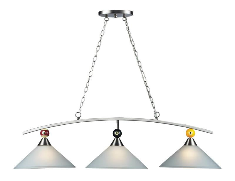 Landmark 66273-3 Billiards (Section) Satin Nickel Pendant from Landmark Lighting