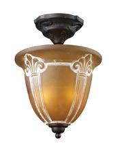 Landmark 66340-2 Restoration Two Light Semi-Flush in Aged Bronze from Landmark Lighting