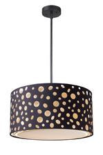 Landmark 68001-1 Enchantment Three Light Pendant in Matte Black from Landmark Lighting