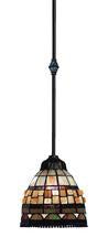 Landmark 683-CB Jewelstone One Light Pendant in Classic Bronze from Landmark Lighting