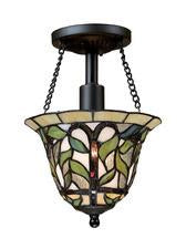 Landmark 70114-1 Latham One Light Semi-Flush in Tiffany Bronze from Landmark Lighting