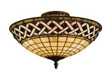 Landmark 937-CB Angel Wing Three Light Semi Flush in Classic Bronze from Landmark Lighting