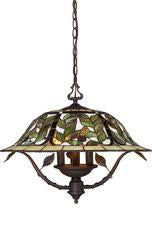 Landmark Lighting 08016-TBH Latham Three Light Chandelier in Tiffany Bronze w/ Highlight from Landmark Lighting