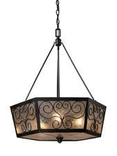 Landmark Lighting 70127-3 Windsor Three Light Chandelier in Tiffany Bronze from Landmark Lighting