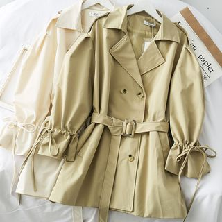 Double-Breasted Loose-Fit Trench Coat with Belt from Lemongrass