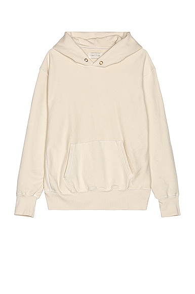 Les Tien Cropped Hoodie in Neutral,White from Les Tien