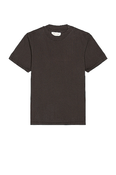 Les Tien Mock Neck Tee in Black from Les Tien