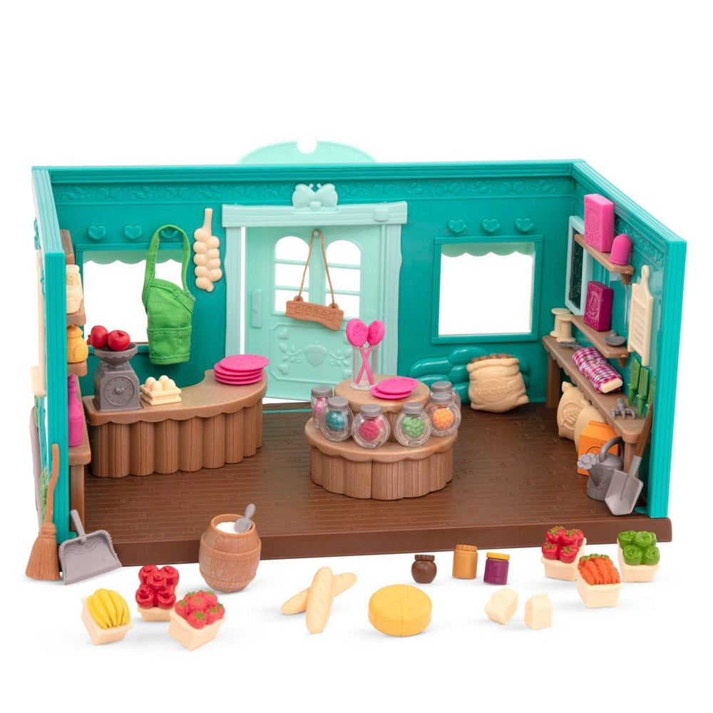 Li'l Woodzeez Store Playset with Toy Food 69pc - Honeysuckle Hollow General Store from Li'l Woodzeez