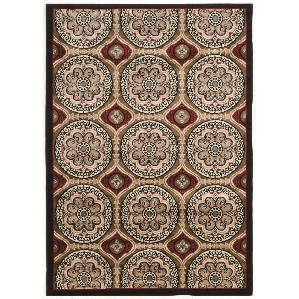 2'x3' Elegance Clara Rug Beige/Red - Linon from Linon