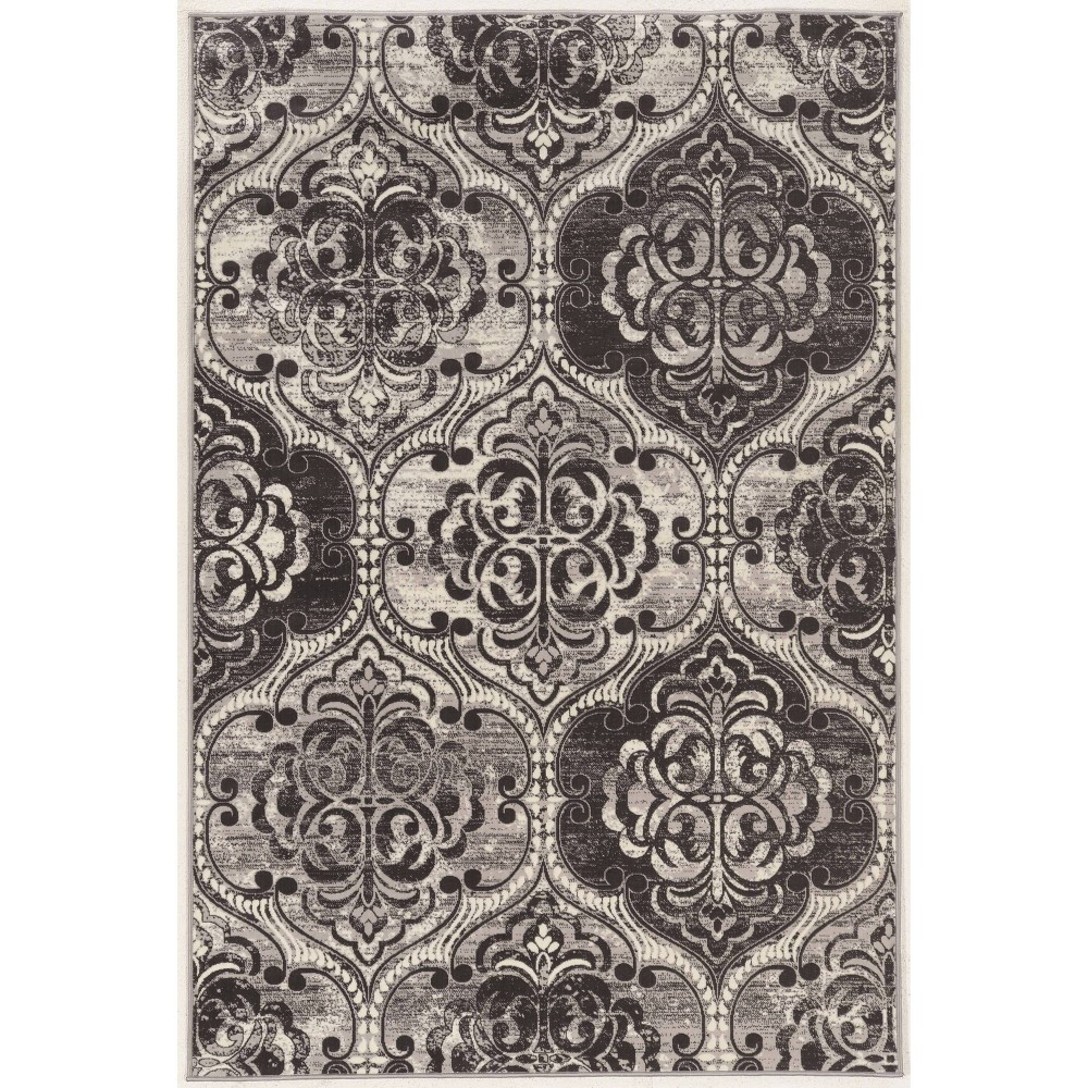 "5'x7'6"" Vintage Collection K Arthur Rug Charcoal Gray - Linon from Linon"