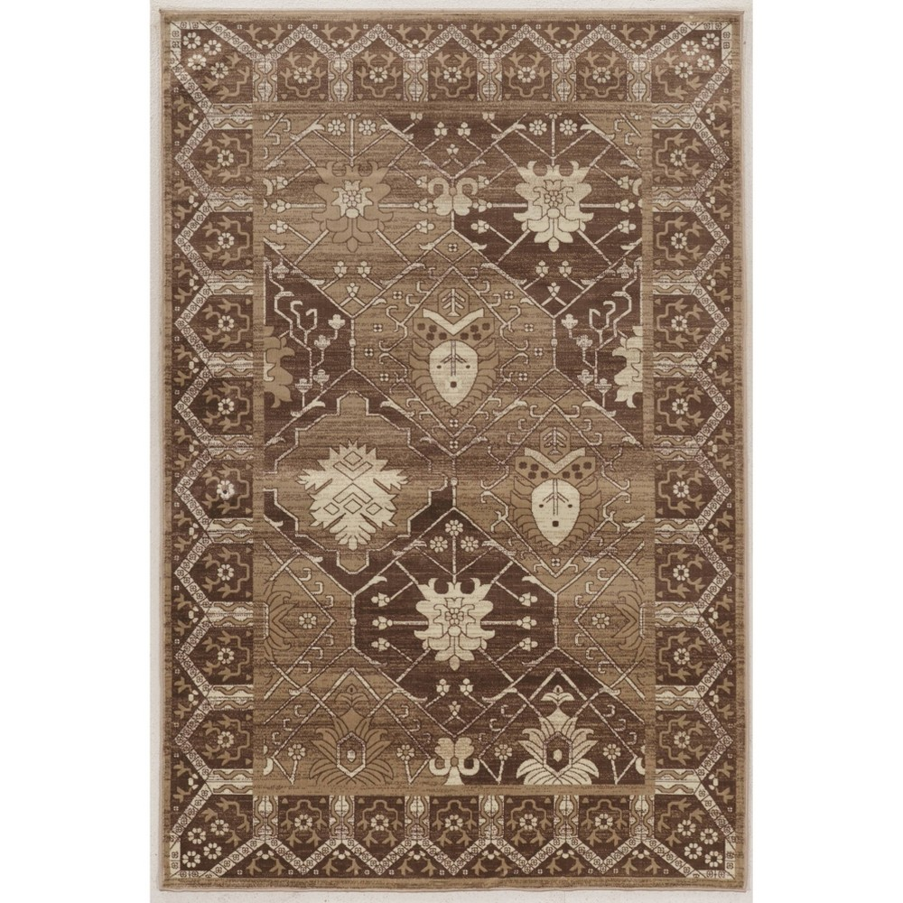 8'x10' Vintage Collection Belouch Rug Beige - Linon from Linon
