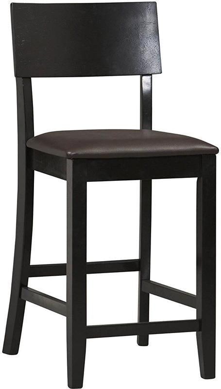Linon 01854BLK-01-KD-U Torino Contemporary Counter Stool from Linon