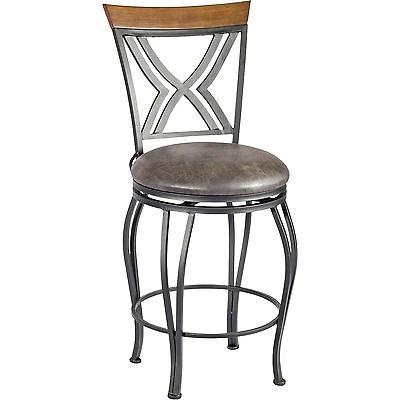 Linon 033014MTL01ASU Madelyn Counter Stool from Linon