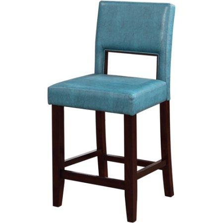 Linon 14053BLU01U Vega Counter Stool Agean Blue from Linon