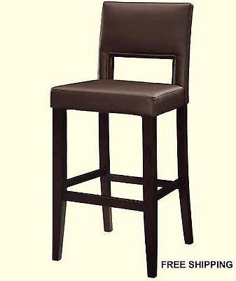 Linon 14053VESP-01-KD-U Vega Counter Stool Brown 24 from Linon