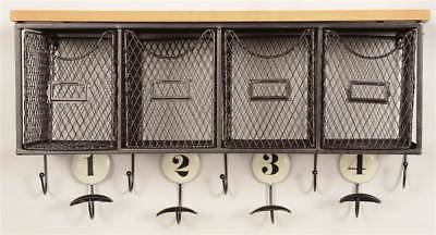Linon AMME4DRW1 Four Basket Wall Organizer from Linon